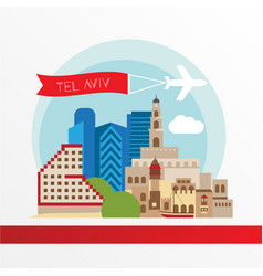 tel aviv detailed silhouette vector image
