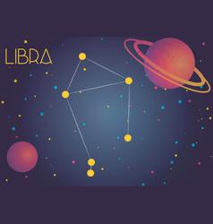 The constellation libra vector