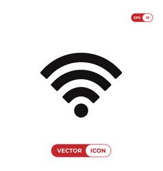 wifi signal icon wirelessinternet symbol vector image
