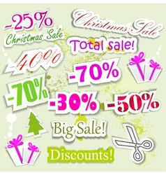 christmas sale elements vector image