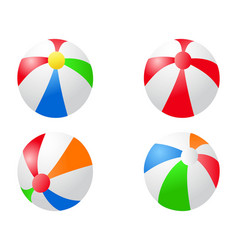 color beach balls icon vector image