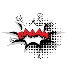 Comic text bam sound effects pop art vector image