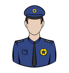 policemen icon cartoon vector image