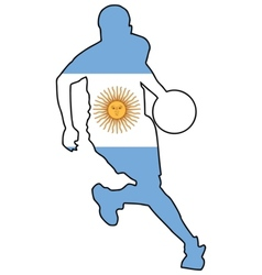 basketball colors of Argentina vector image vector image