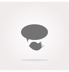 isolated internet web icon with bird and vector image vector image