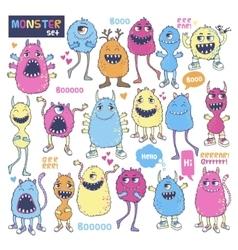 Monster set vector image