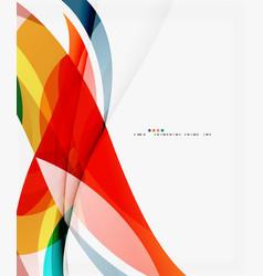 silk wave background vector image