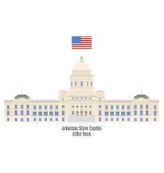 arkansas state capitol vector image