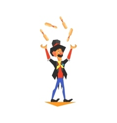 Circus juggler performing vector