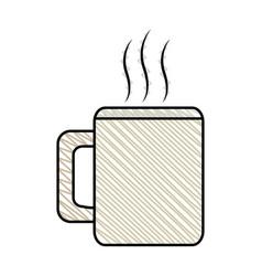 coffee mug beverage break vector image vector image