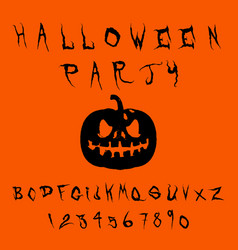 halloween splash alphabet eps10 vector image