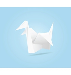 Origami crane vector image vector image