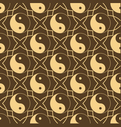 Seamless pattern with sign yin yang sample design vector