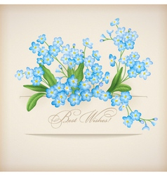 Blue Spring Flowers Forget-me-not Greeting Card vector image