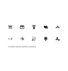 set of 10 editable mixed icons includes symbols vector image