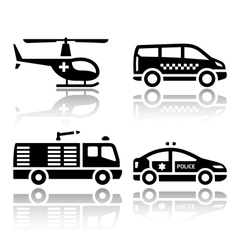 Set of transport icons - transport services vector image