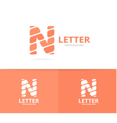 unique letter n logo design template vector image