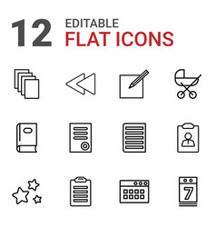 12 page icons vector