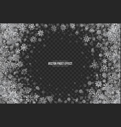 3d snow frost effect vector