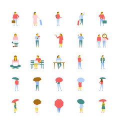 a icons set of people in flat design vector image