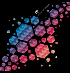 Abstract geometric hexagon pattern colorful vector