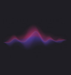 Abstract sound wave voice digital waveform vector