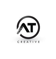 at brush letter logo design creative brushed vector image