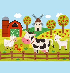 basic rgbpets stand in barnyard vector image