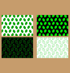 beech leaf - pattern vector image