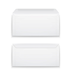 Blank envelopes on white background vector image
