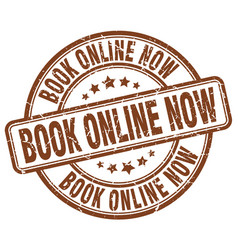 book online now stamp vector image