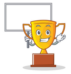 bring board trophy character cartoon style vector image