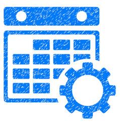 Calendar configuration grunge icon vector