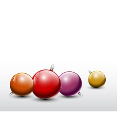 Christmas realistic baubles vector image