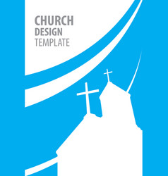 church silhouette template flat design vector image