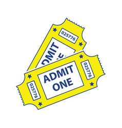 cinema tickets icon vector image