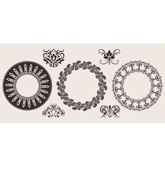 circle lace border vector image