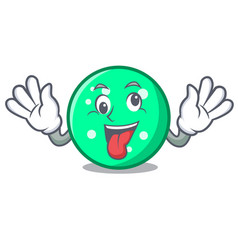 Crazy circle mascot cartoon style vector