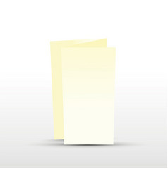 cream trifold leaflet vector image