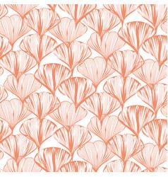 Delicate seamless flower pattern vector