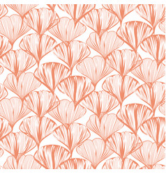 delicate seamless flower pattern with vector image