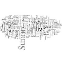 Elections in iraq and future war vector