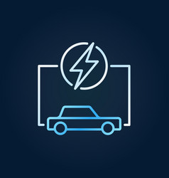 electric car with lightning colorful icon ev vector image