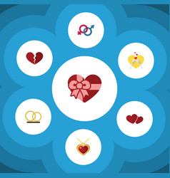 Flat icon amour set of divorce sexuality symbol vector