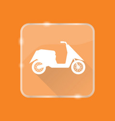 flat style moto scooter silhouette icon vector image