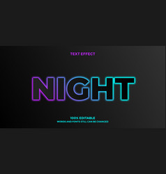 Font style dark glowing design template vector