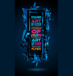 futuristic frame art design with abstract shapes vector image