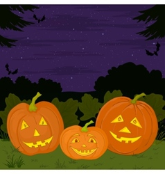 Halloween pumpkins family vector