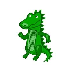 Hand-drawn cartoon wild Crocodile vector image