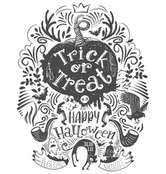 Hand drawn halloween lettering quote vector
